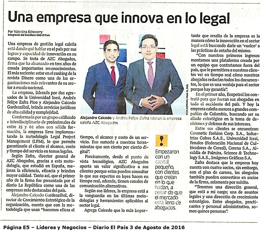 AZC abogados una empresa que innova en el sector legal – Diario El País