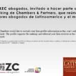 AZC abogados invitado a ser parte de directorio legal Chambers & Partners
