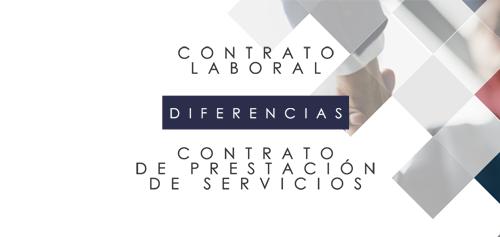 Diferencias entre Contrato laboral y contrato de prestación de servicios